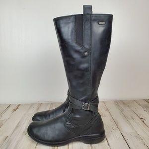 Merrell Tetra Black leather waterproof boots EUC 7